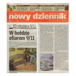 "Slabisz, Aleksandra, ""W holdzie ofiarom 9/11"", Polish Daily News, New York, September 2011."