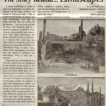 """The Story Behind...Landscapes,"" The Post Eagle, New Jersey, August 31 2011."