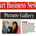 Art Business News, Picture Gallery, Portrait of NYC Mayor Giuliani, February 1999.