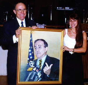 Portrait of NYC Mayor Rudy Giuliani
