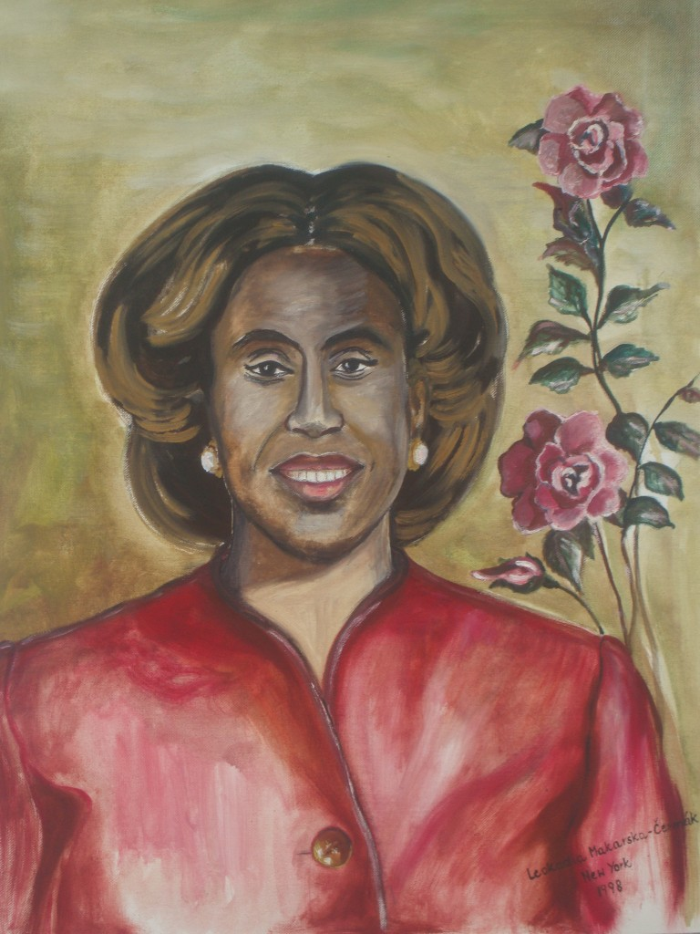Portrait of Maureen Walker, Comptroller of the City of Mount Vernon. She became the first woman, the first African American and the first person of Caribbean descent to hold such a position.